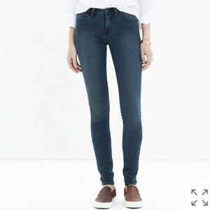 Madewell Legging Jean in Arctic Blue